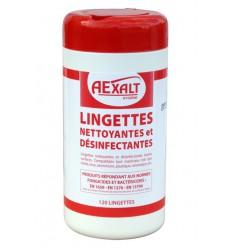 Nettoyant sanitaire LINGETTES désinfectantes Bactericide BTE 120
