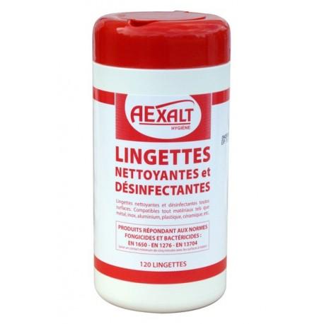 LINGETTES désinfectantes Bactericide BTE 120